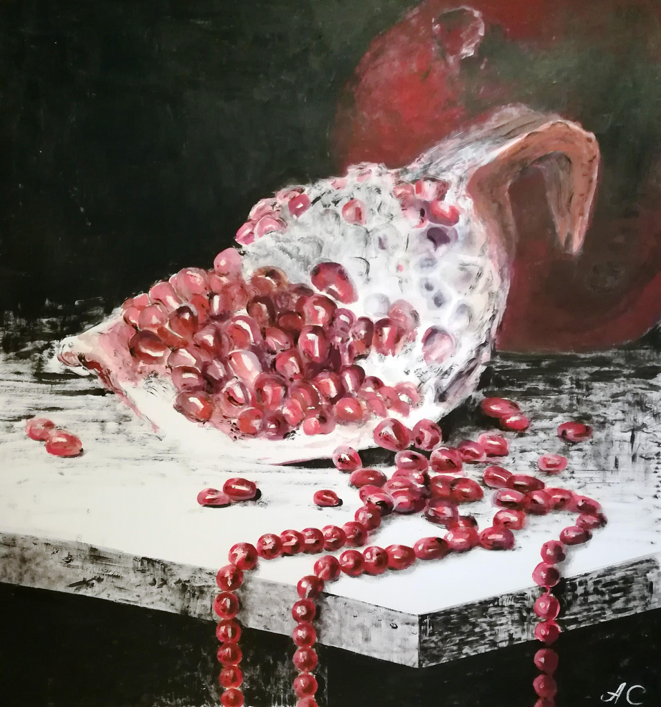 Славнова Анастасия картина Гранатовые бусы