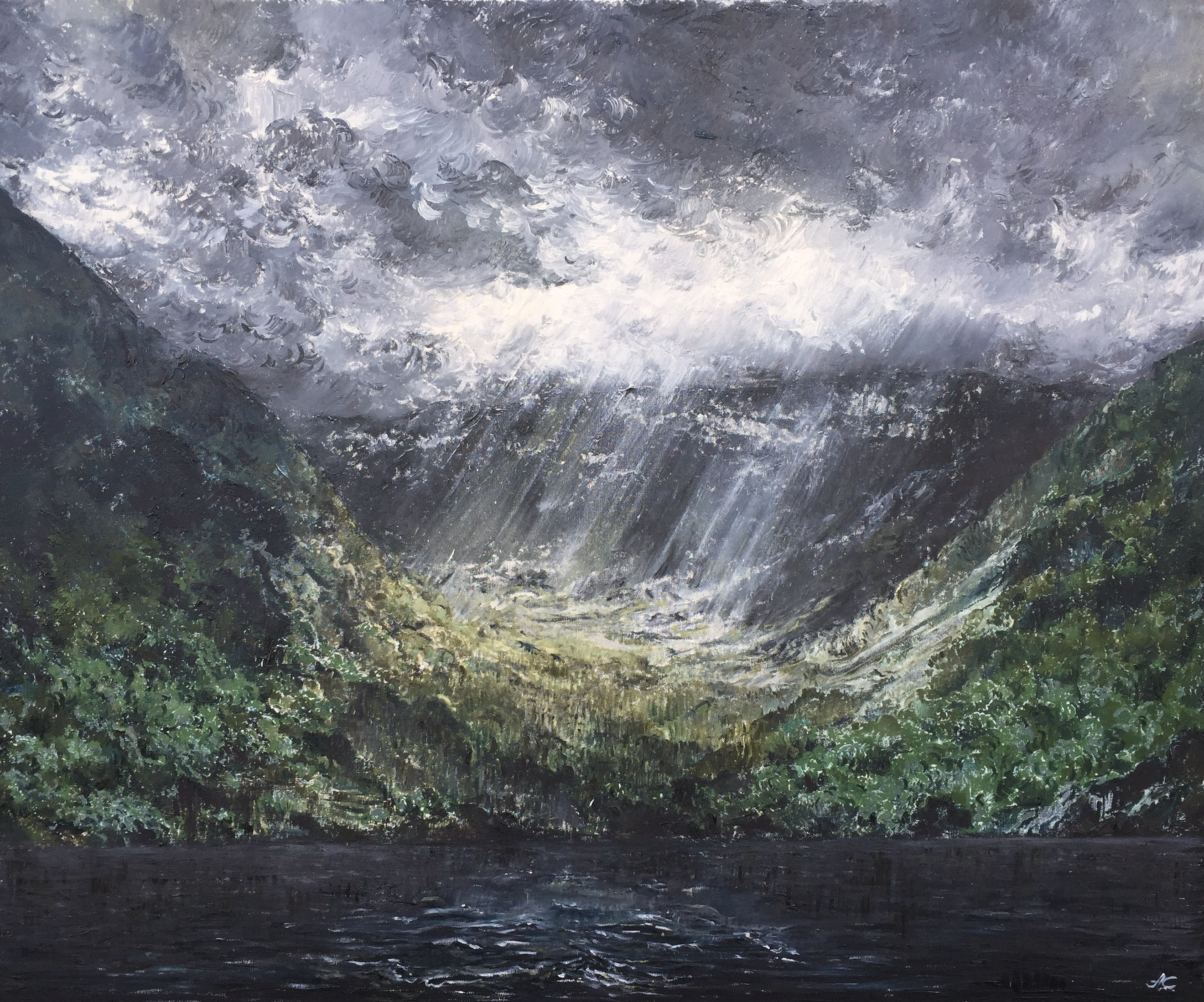 Славнова Анастасия картина Свет и тень