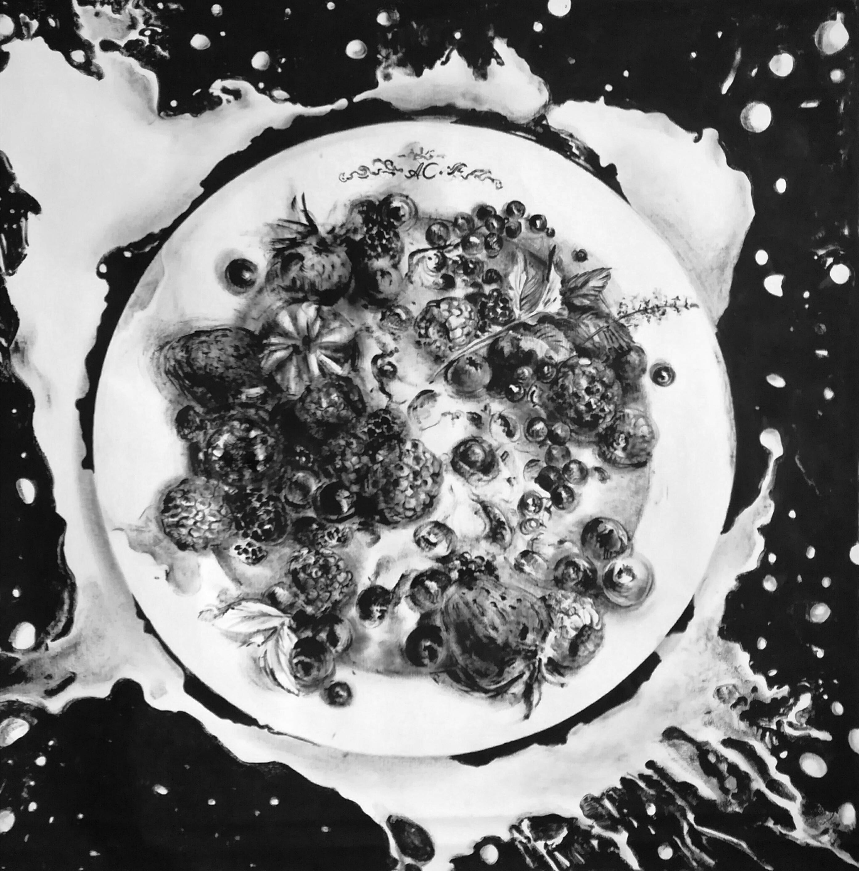 Славнова Анастасия картина Ягоды с молоком